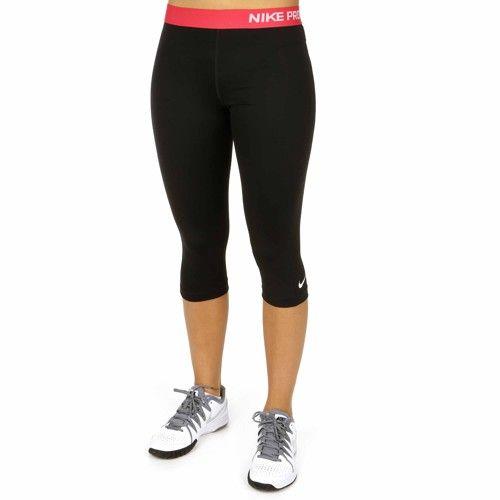 Nike  Pro Capri Dames black/geranium €29,90