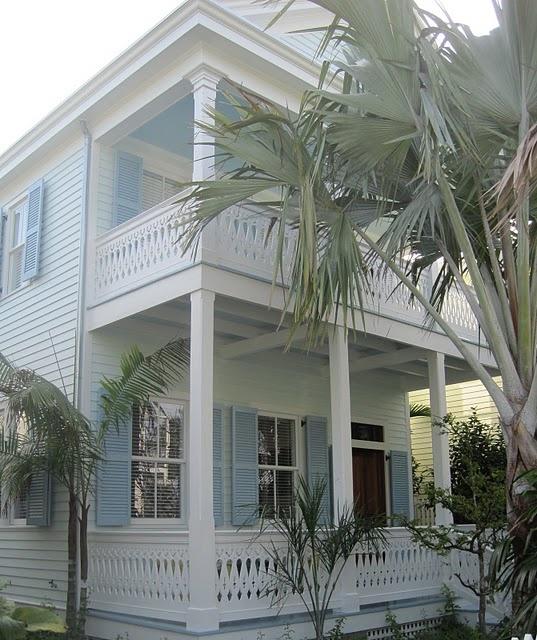 In Key West, the porch ceilings are painted blue to keep the spirits from entering there house. Lot's of cool history in Key West.