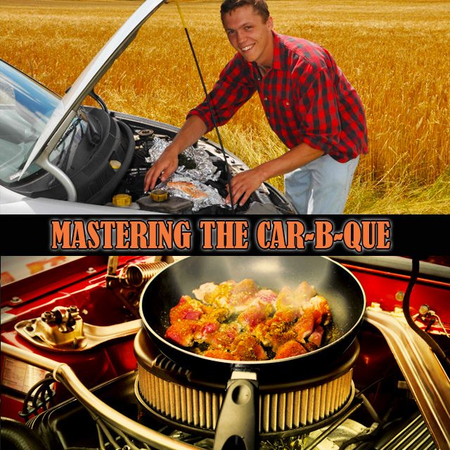 Car engine cooking will change the way you take road trips, forever! READ MORE #RoadTrip #DIY #ManCave