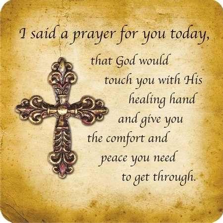 Praying for you....