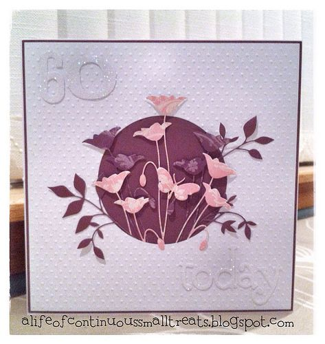 A Life of Continuous Small Treats: Memory Box Prim Poppy 60th birthday card