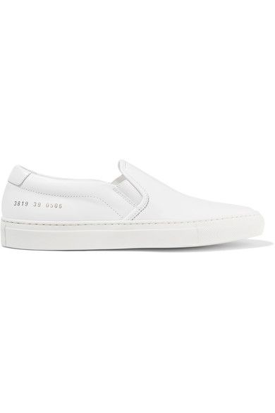 Common Projects - Leather Slip-on Sneakers - White