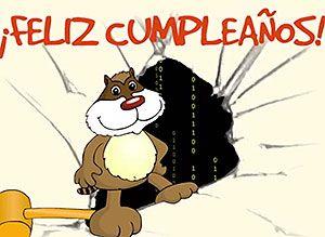 Cumpleaños mapache - Correomagico | Mágicas postales animadas gratis - Tarjetas de Cumpleaños