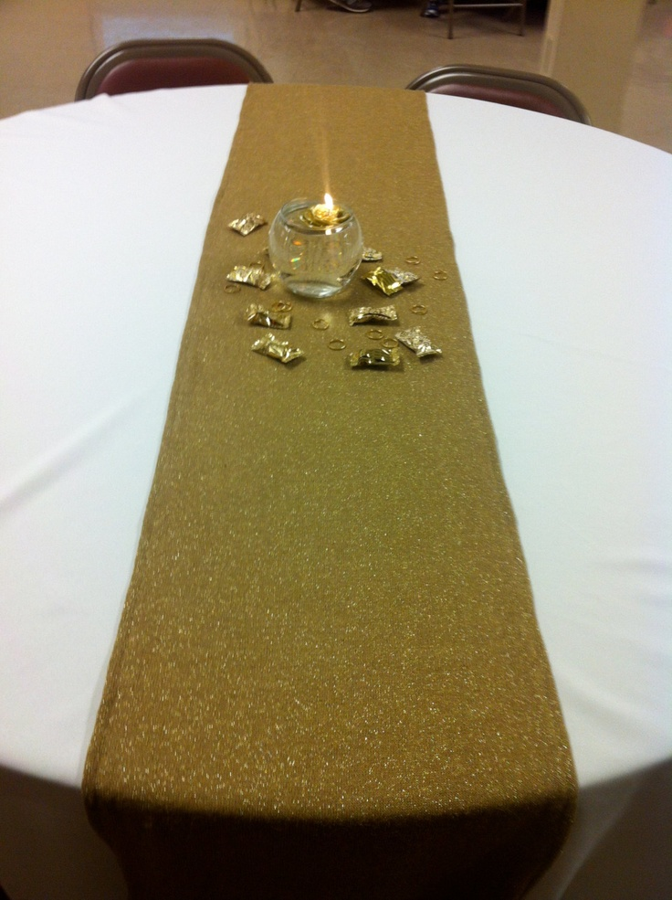 127 best 50th wedding anniversary images on pinterest 50th wedding gold table runner sparkly for weddings golden anniversaries wedding anniversaries junglespirit Images