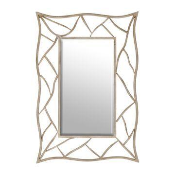 Boulder Distressed White Framed Mirror, 28x41 | Kirklands