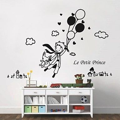 Wall Stickers Wall Decals,  Modern The little prince and balloon PVC Wall Stickers – EUR € 21.48