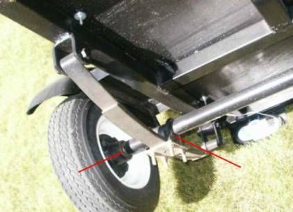 Spring axle on motorcycle Cargo Trailer