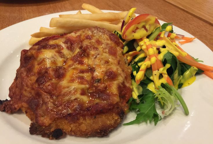 Chicken parma from The Junction Hotel, Preston