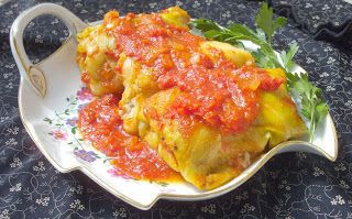 W Mojej Kuchni Lubię.. : gołąbki w sosie ze świeżych pomidorów...