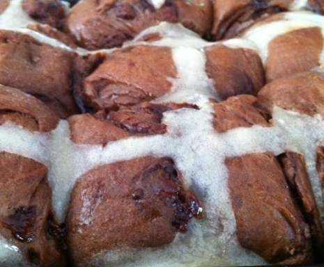 Recipe Double Chocolate Hot Cross Buns by ThermomanCooks - Recipe of category Baking - sweet