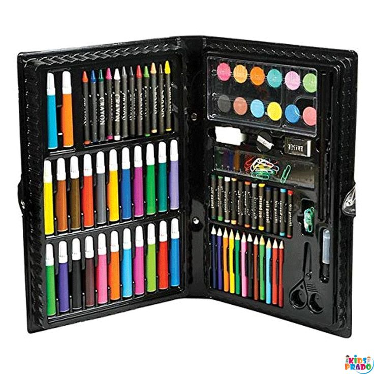 Deluxe Master Art Supplies Set For Kids Perfect Beginner Artist Coloring And Drawing Kit Drawing Pencils Color Pencil B Art Kit Art Set Colored Pencil Set