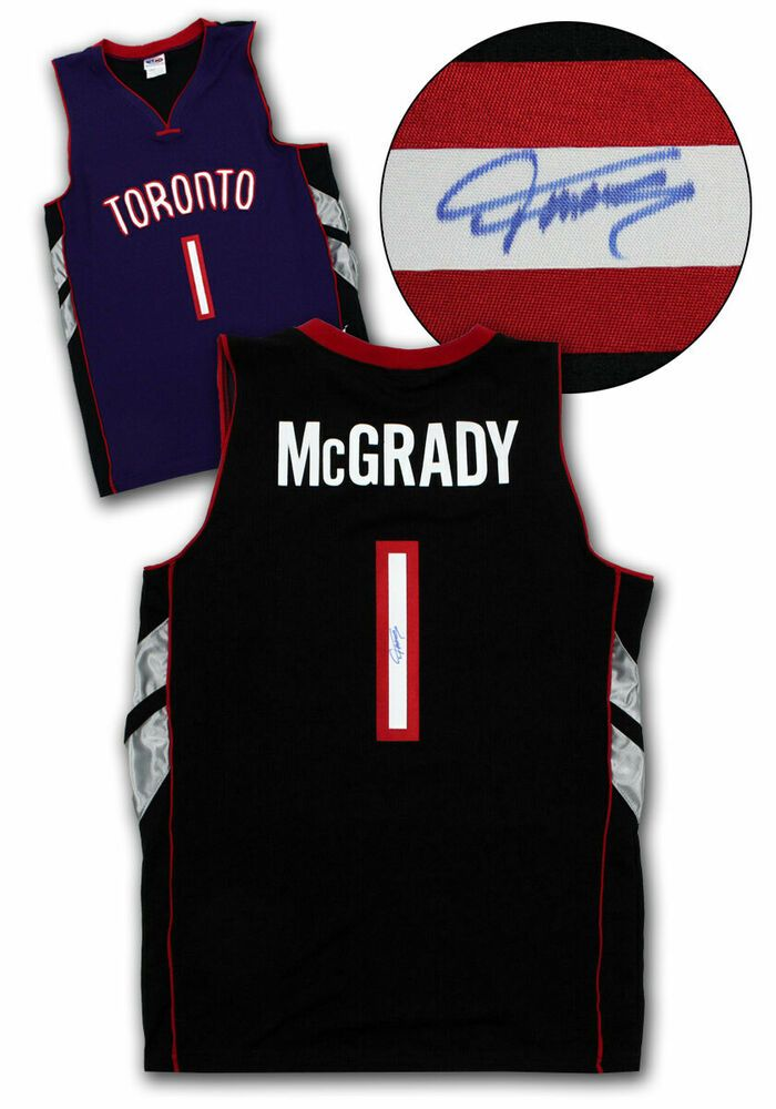 dccdfb649a97 Tracy McGrady Toronto Raptors Autographed Purple Black Custom Basketball  Jersey  TorontoRaptors