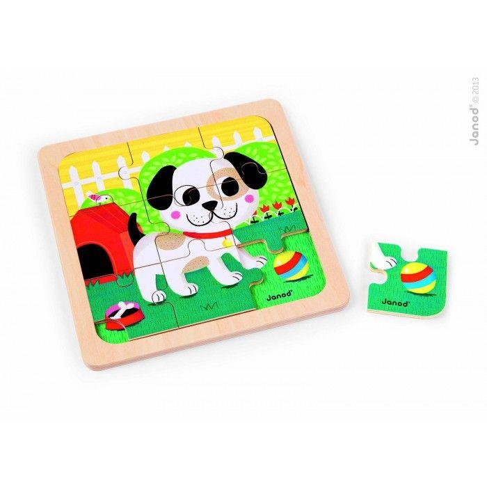 Titus Dog 9 Piece Puzzle | Janod | J07066