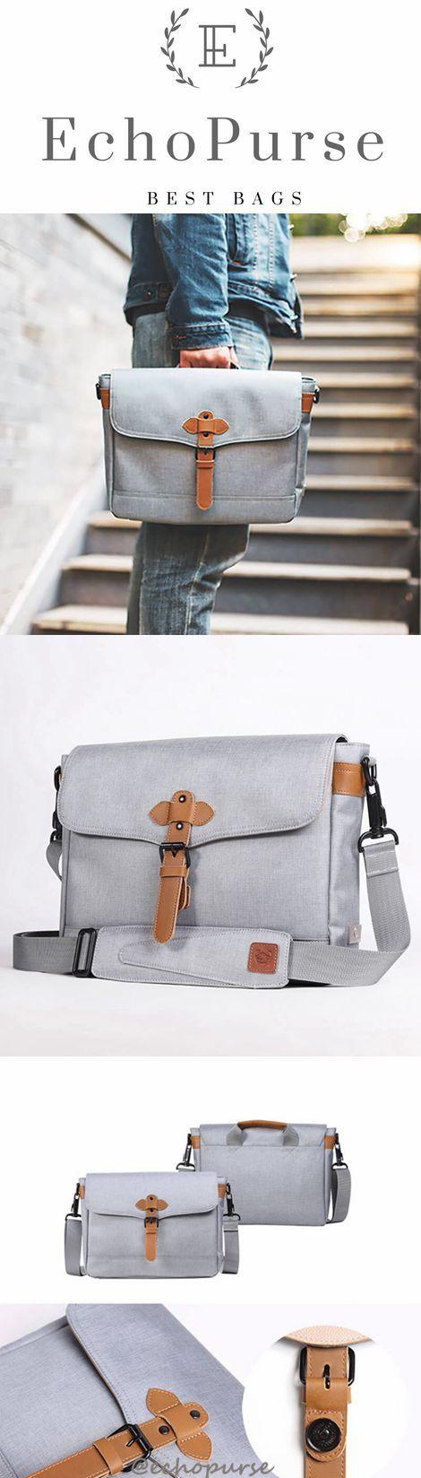 Canvas Shoulder Bag, Messenger Bag, Waterproof Crossbody Bag 083