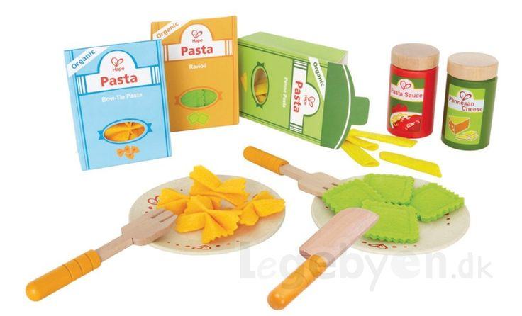 Køb Legemad - Pasta i træ & filt fra Hape - 33 dele. online - Hape