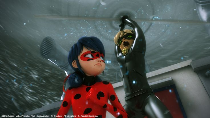 "Miraculous Ladybug - Ladybug and Cat Noir in ""Stormy Weather"""