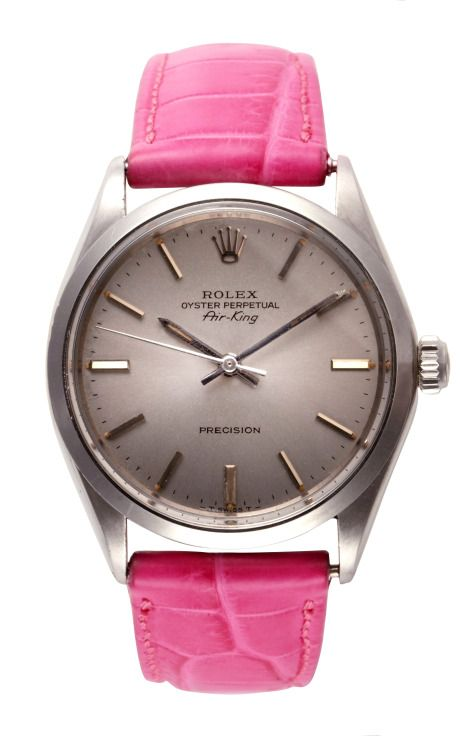 Rare Vintage Stainless Steel Rolex Air-King by Cmt Fine Watch And Jewelry Advisors Now Available on Moda Operandi