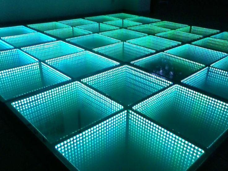 Led infinity dance floor. Pista de baile led infinito