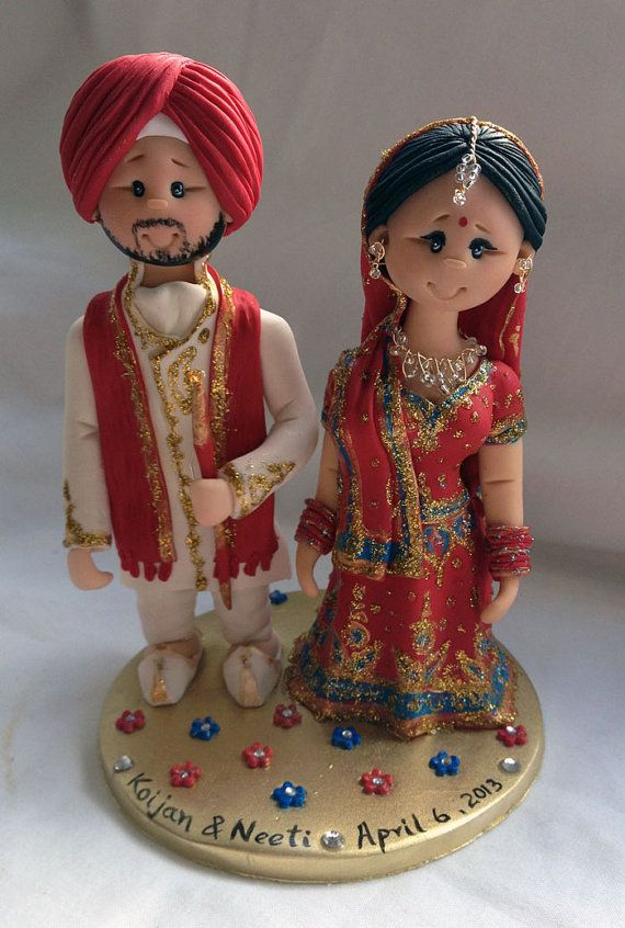 indian wedding cake dolls personalised asian indian sikh hindu muslim 16414