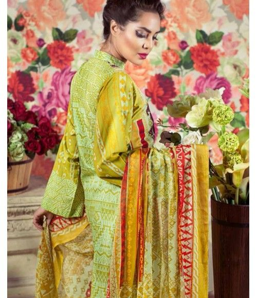 Feminine Embroidered Lawn Collection 2016 FEM_04B