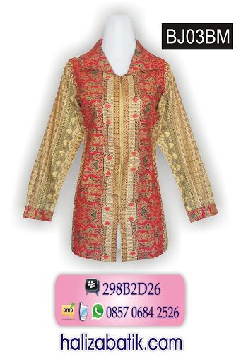 Blus batik bertema gold. Rp 105.000. Model resleting depan. Batik model formal cocok untuk kerja.