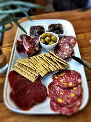 Massive cured meats platter at Slow Beer in Richmond