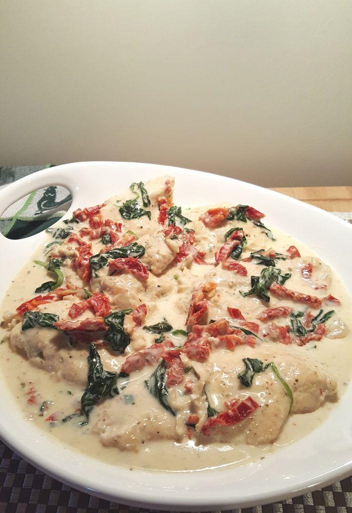 Pressure Cooker Creamy Tuscan Garlic Chicken- insta  pot recipe, use more garlic and more spinach