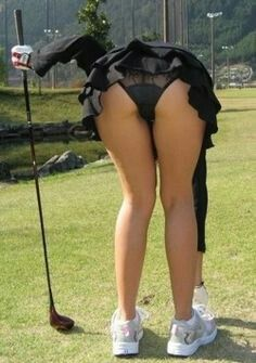 Share your Lady golfer accidental upskirt
