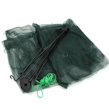 New Folded 80x80cm Folding Crab fish Minnow Fishing Trap Cast Net - US$10.49