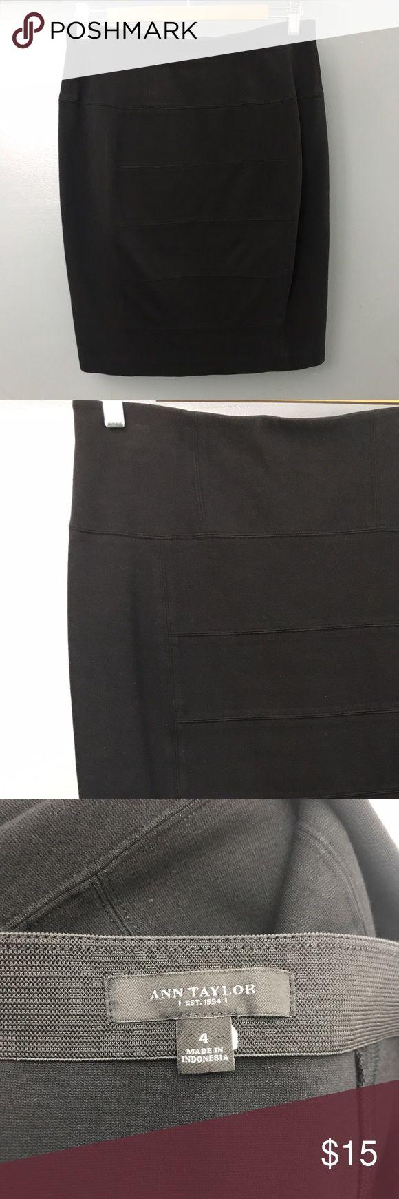 Ann Taylor stretch pencil skirt size 4 Ann Taylor black stretch pencil skirt size 4 dress up or for work in EUC Ann Taylor Skirts Pencil