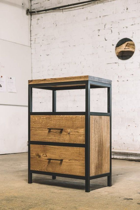 Industrial Commode Modern Commode Rustic Commode Oak Commode Steel Commode Handmade Furniture Industrial Furniture Handmade Furniture Industrial Design Furniture Welded Furniture