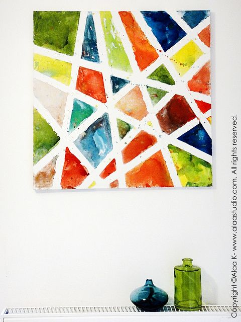Kids canvas art by Alaa' Studio, via Flickr