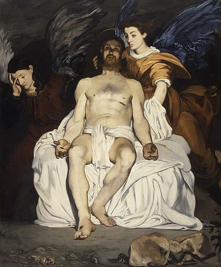 Manet, Dead Christ With Angels, 1864