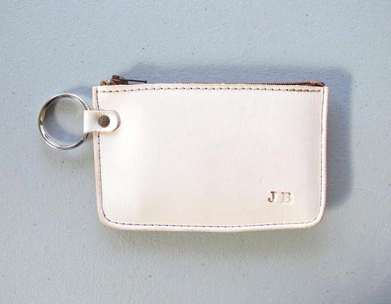Monogram Wallet  Nude VegTan Leather Zipper Wallet