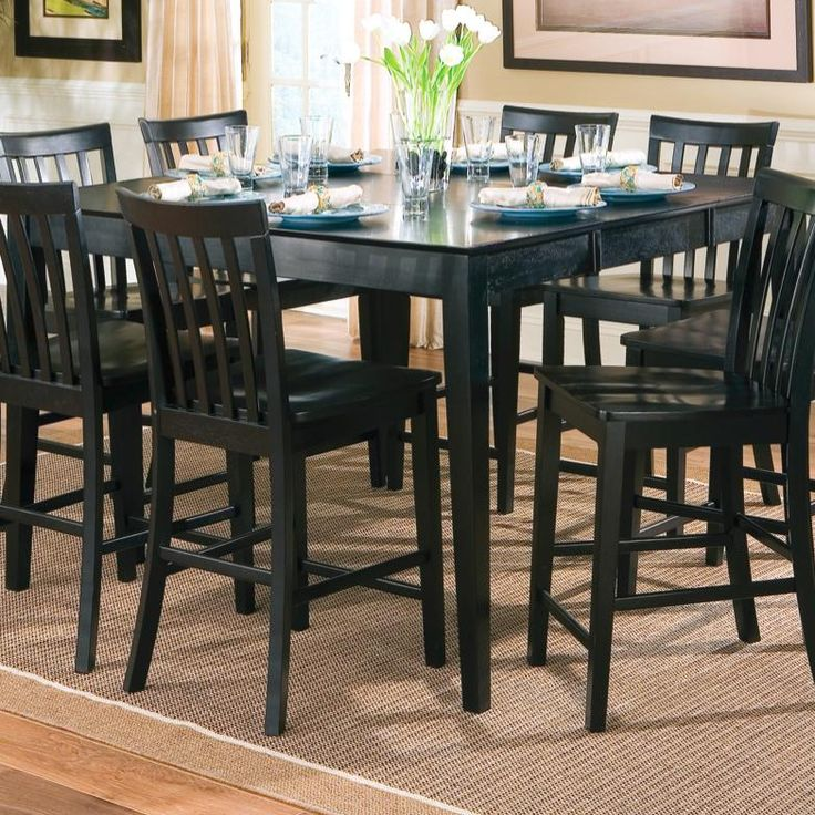 101038BLK Pines Counter Height Dining Leg