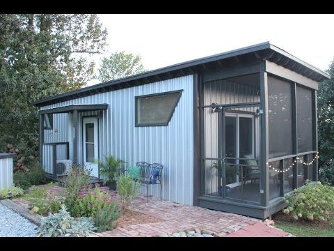 Stay in the backyard bunkie tiny house on airbnb love for Tiny house plans with screened porch