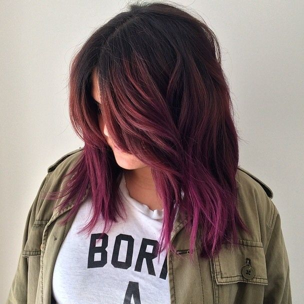 Red & purple.