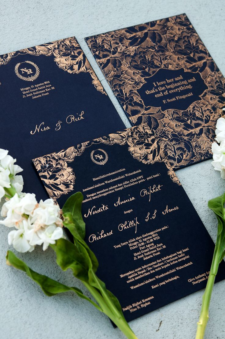 Wedding invitation in royal blue wwwthebridedeptcom