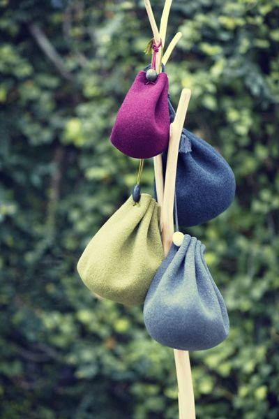 Babaghuri Felt Pouch, beautiful, clean & simple