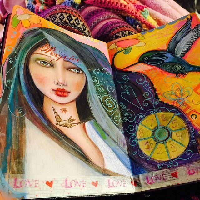 Art Journal page by Suzi Blu - Thanksgiving 2014