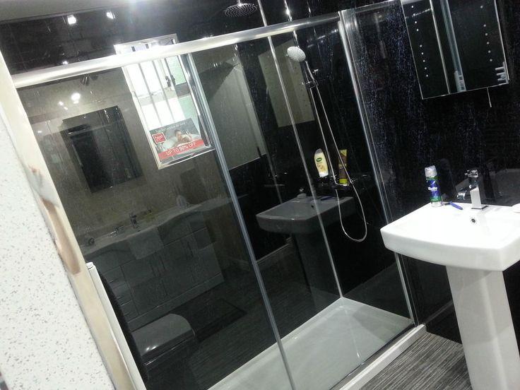 14 Black Marble Effect Interior PVC Panels Waterproof PVC Shower Wall  Cladding