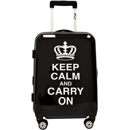 "{ ) iFly Keep Calm and Carry On 20"" Hard-Sided Luggage- carry on luggage love"