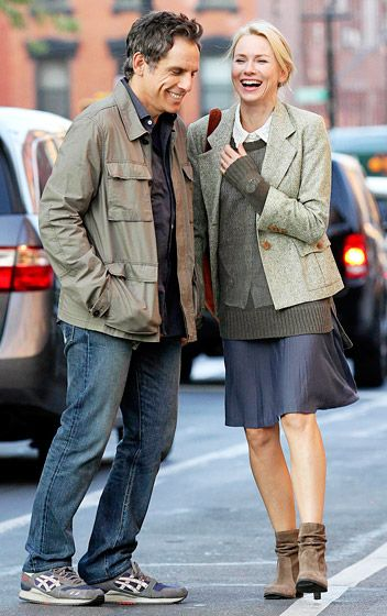 Ben Stiller and Naomi Watts had a LOL moment in downtown Brooklyn shooting their film While We're Young