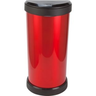 Buy Curver 40L Deco One Touch Bin - Red at Argos.co.uk - Your Online Shop for Kitchen bins.