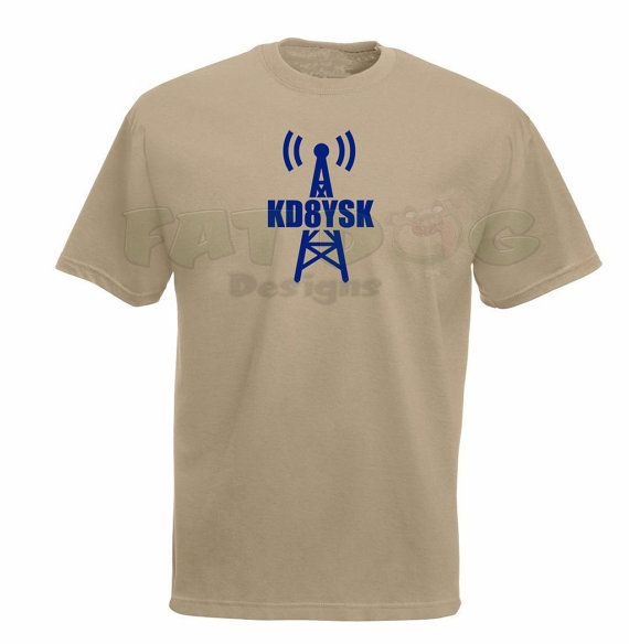 Ham Radio Amateur Radio Call Sign With Tower Custom Short-Sleeve T-Shirt  If there is one thing that Ham Radio enthusiasts love almost as much as working with their radios, its wearing things that tell the world their Call Sign. Were very proud of our Call Signs.  This stylish