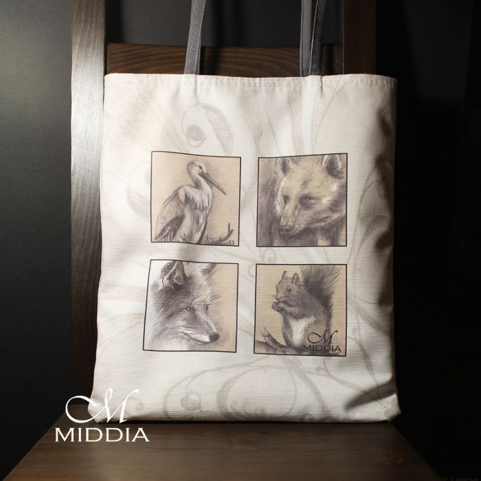 Cotton shopping bag Middia Lenormand
