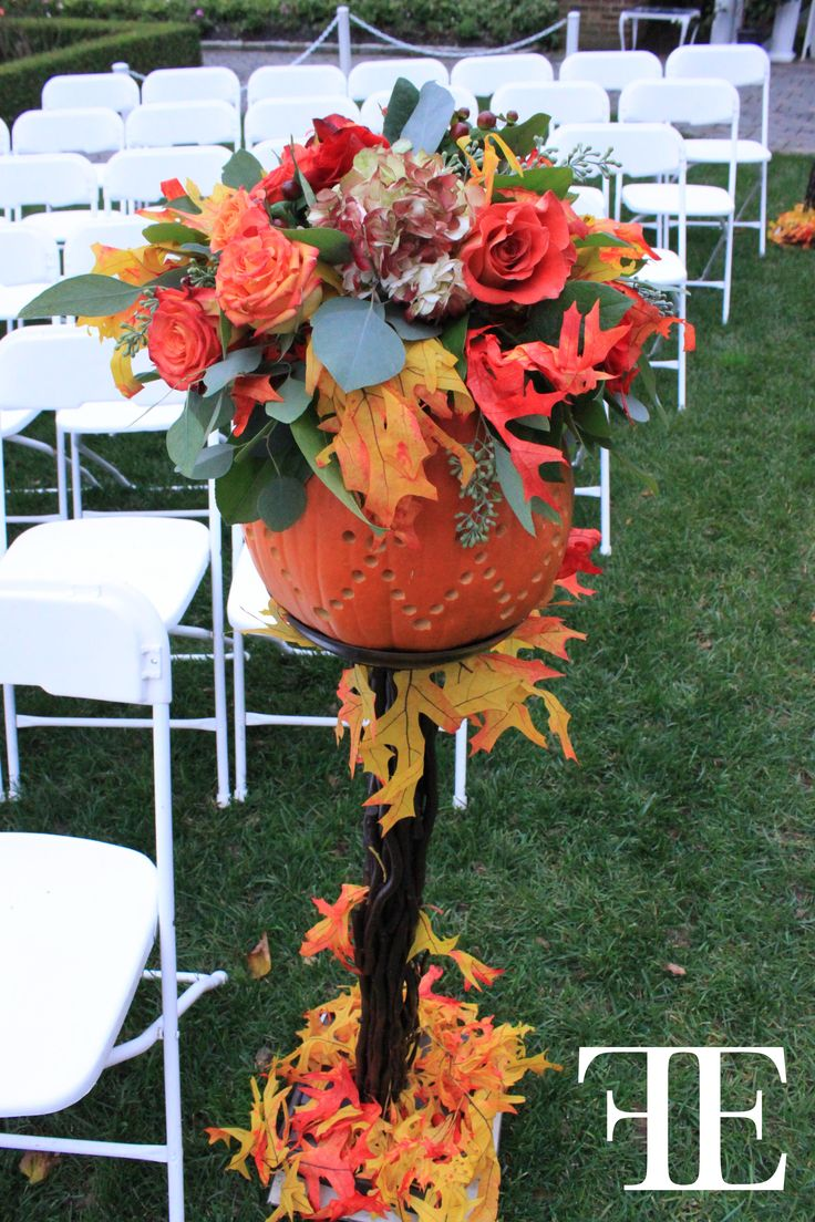 outdoor wedding decoration ideas for fall%0A Flowerful Events   October        Shadowbrook   Ceremony Decor   Orange  Wedding   Theme