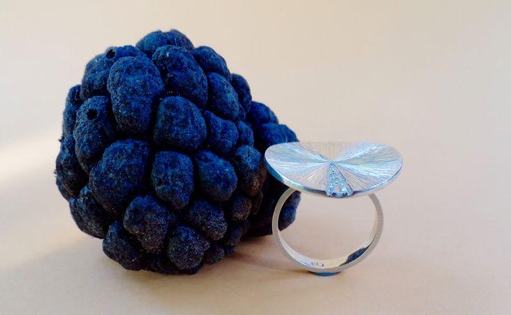 Jóia e Natureza conversando | Anel Flat/Jewellery meets Nature | Flat Ring. Ewerton Bispo #Jewellery #Design #EwertonBispo #Silver #WhiteSapphire