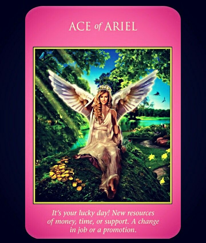 ~Ace of Ariel card from Archangel Power Tarot Cards by Doreen Virtue and Radleigh Valentine~