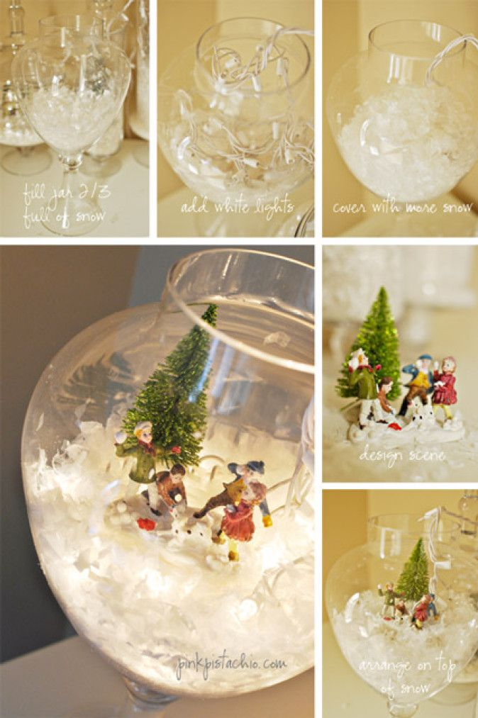 DIY Snow Globes Using Christmas Lights - Fairy Lights & Fun